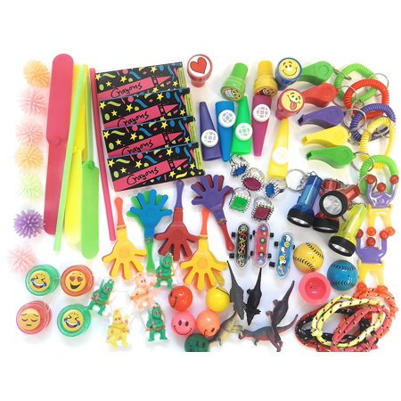 120 Pc Party Favor Toy Assortment for Kids Party Favor, Birthday Party, School Classroom Rewards, Carnival Prizes, Pinata Claw Prizes Refill