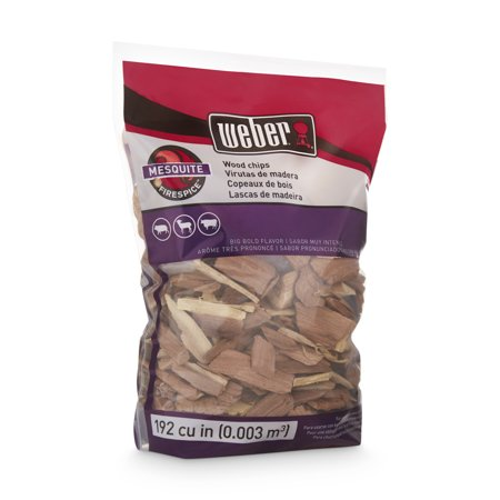 Weber Mesquite Wood Chips, 192 Cu. In. bag