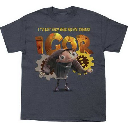 Disney Igor Not Easy Being An Evil Genius Grey Youth T-Shirt -