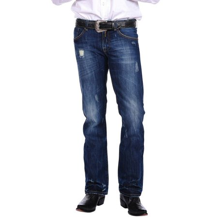 20 X Western Jeans - Stetson Western Denim Jeans Mens Rocks Fit Royal 11-004-1014-3000 BU