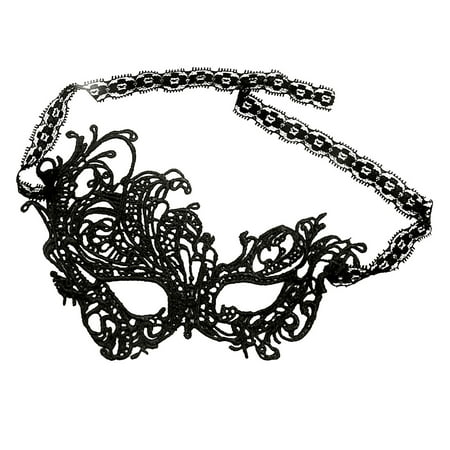 Women Crochet Self Tie Swan Party Masquerade Halloween Mask Black](Black Swan White Swan Halloween)