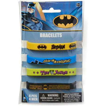Batman party favor rubber bracelets 4ct walmart batman party favor rubber bracelets 4ct filmwisefo