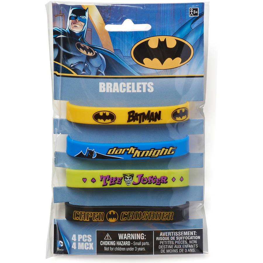 Batman Party Favor Rubber Bracelets, 4ct