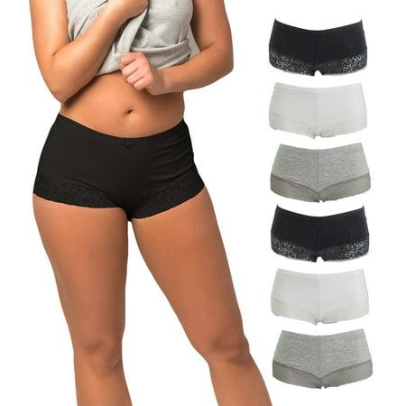 Women's Seamless Laced Boyshort Panties Underwear | 10 Pack Aerie Lace Boyshort