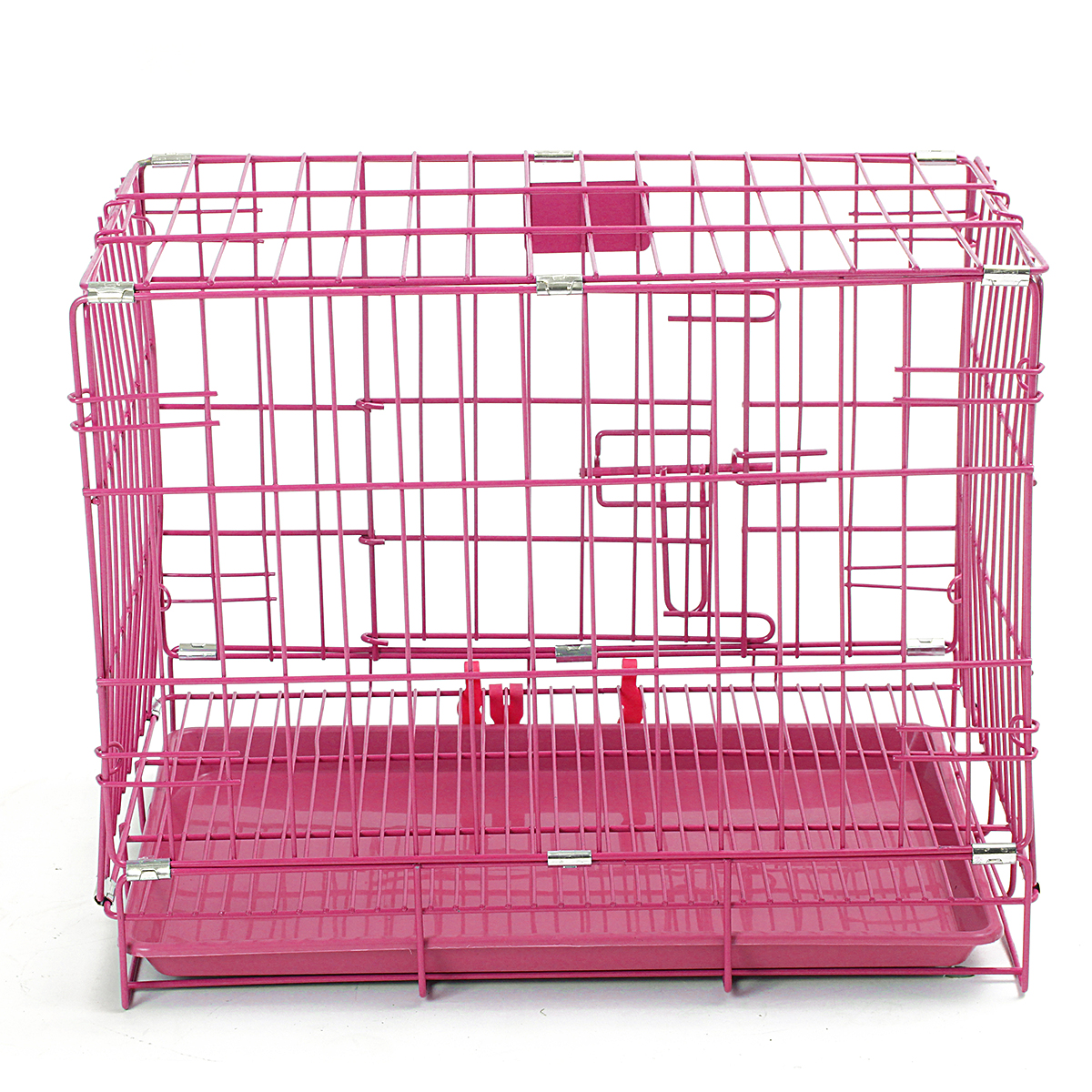 "18"" Folding Metal Dog Cage Pet Puppy Crate Cage Playpen Training Playpen Kennel House"