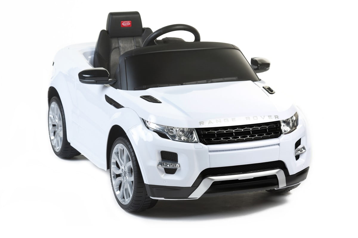 12v Electric Car Range Rover Evoque White Ride On For Kids With Remote Control Led Lights Mp3 Music And Horn