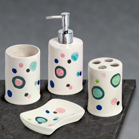 Popular Bath 4 Piece Bubble Gum Complete Bath Set