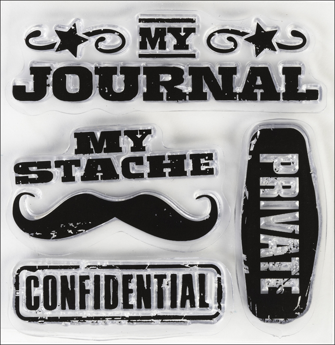 Inkadinkado Clear Mini Stamps-Personal Stache