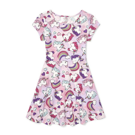 The Children's Place Printed Pleat Knit Dress (Little Girls & Big (Best Places For Dresses)