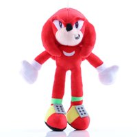 AkoaDa 30Cm New Movie Sonic The Hedgehog Shadow Knuckles And Tails Plush Doll Toy  12In