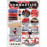 Cardstock Stickers-I Love Gymnastics