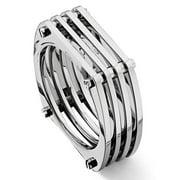 Titanium Kay Titanium Mesh Men's 8mm High Polish Contemporary Wedding Band Ring Sz 10.0