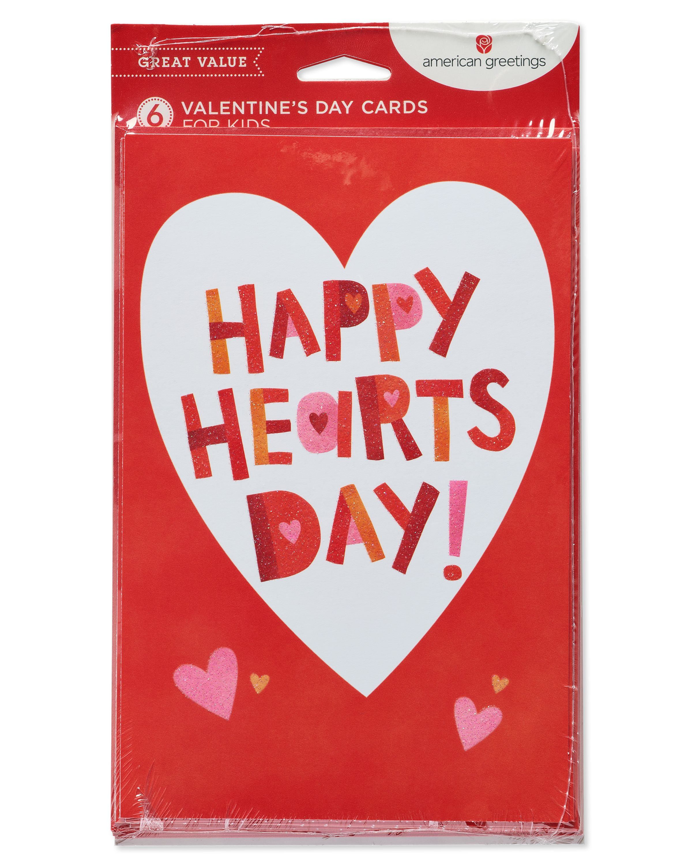 American Greetings Happy Hearts Day Valentines Day Card 6ct