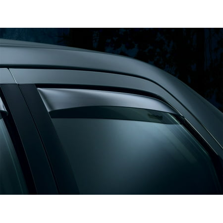 WeatherTech 94-03 Chevrolet S10 Extended Cab Rear Side Window Deflectors - Light Smoke Chevrolet S10 Extended Cab