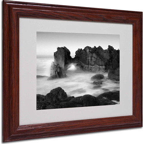 "Trademark Fine Art ""Gate"" Matted Framed Art by Moises Levy, Wood Frame"