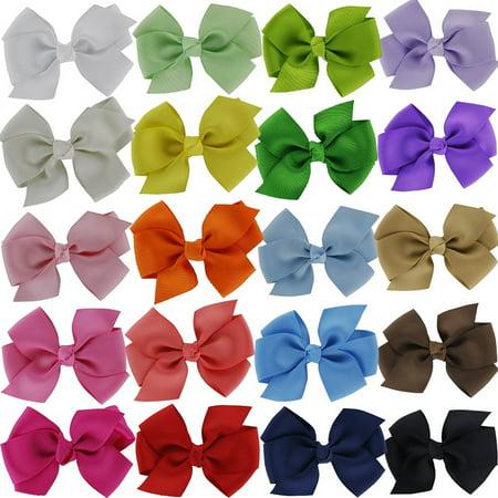 12Pcs Hair Barrettes, Aniwon Grosgrain Ribbon Hair Bows Alligator Clips For Teens Girls Kids Baby - Ribbon Barrette