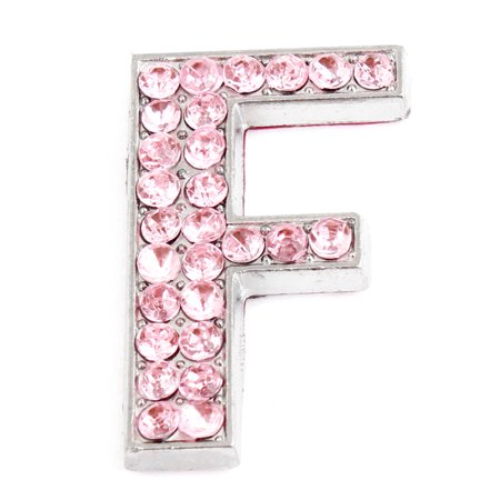 Unique Bargains Pink Bling Rhinestones Letter F Shaped Car Adhesive 3D  Sticker Decoration - Walmart.com 1dd592a0b254