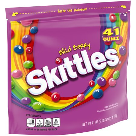 Skittles Set (Skittles Wild Berry Chewy Candy Bag, 41)