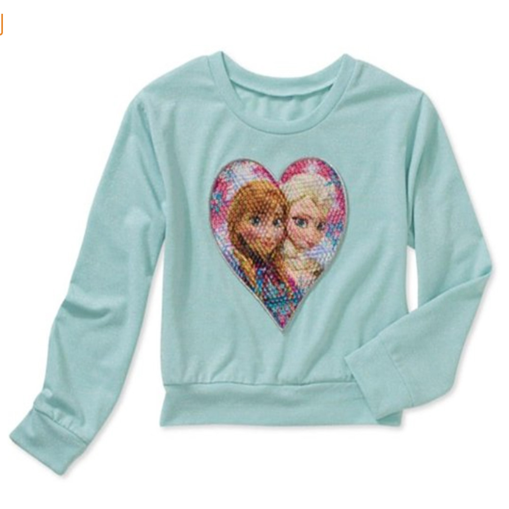 Disney Frozen Heart Girls' Graphic Sweater (XS (4-5))
