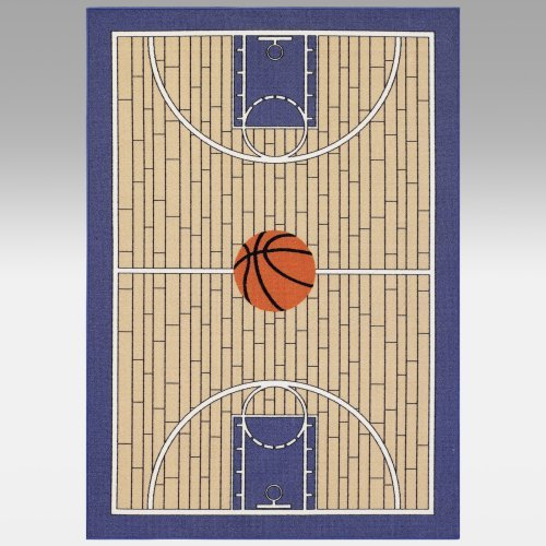 Dalyn Rug All Star Basketball AL41 Kids Rug - Blue