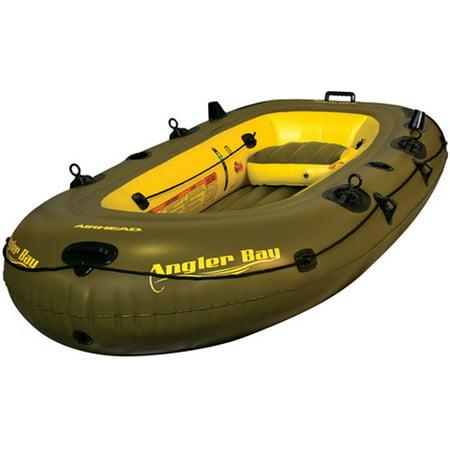 Kwik Tek AHIBF-04  Airhead Angler Bay Inflatable Boat, 4 Person (Kwik Coupler)