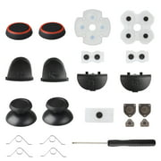 Conductive Rubber Pads [20 in 1] Replacement Repair Parts Complete Repair Kit Fit for Sony Playstation 4 PS4 Controller - L2 R2 L1 R1 Buttons Conductive Rubber Repairs with Joystick Silicone Caps