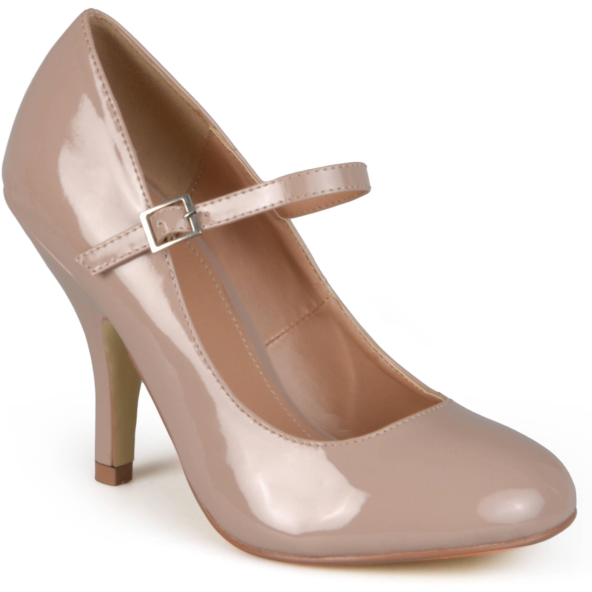 Brinley Co Women's Patent Round Toe Mary Jane Pumps