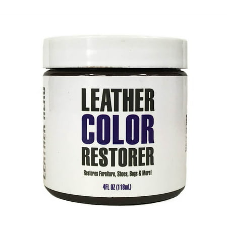 Leather Repair and Restoration Color Restorer for Handbags, Sofas, Shoes & More 4oz - Leather Hero - 21 Cognac Leather