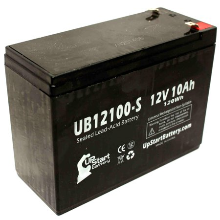 5x Pack - Universal Battery UB12100 Battery Replacement - UB12100-S Universal Sealed Lead Acid Battery (12V, 10Ah, 10000mAh, F2 Terminal, AGM, SLA) - image 2 of 4