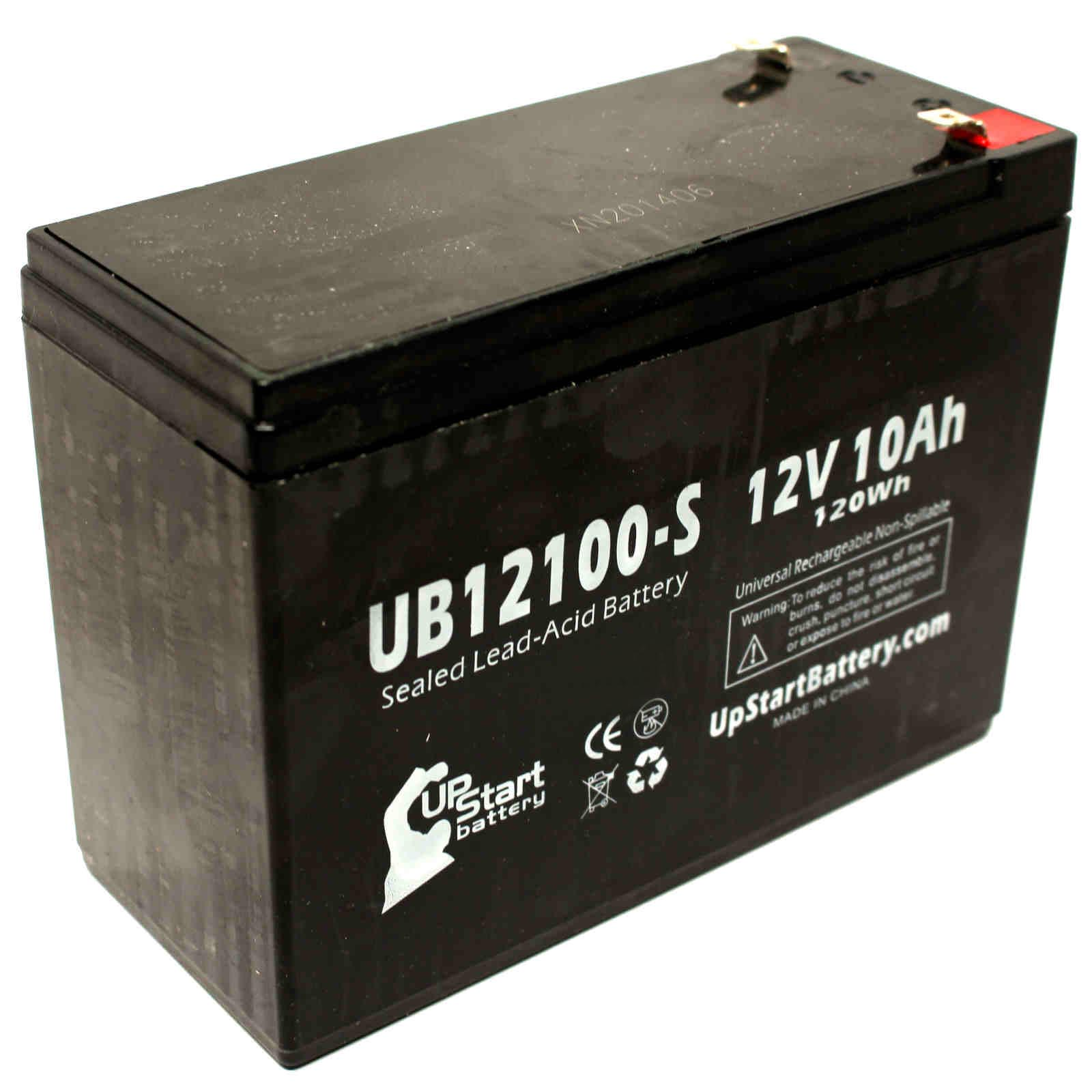Neuton Mowers CE6 Battery Replacement -  UB12100-S Universal Sealed Lead Acid Battery (12V, 10Ah, 10000mAh, F2 Terminal, AGM, SLA)