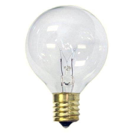 G30 Globe Bulb - Sival Replacement Globe Light Bulb, G30, 5W/130V, E12 Base, Clear, 25 Pack