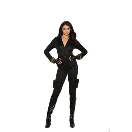 Halloween Costumes Mn (5 pc costume includes jumpsuit, belt, utility belt with holsters, bullet bracelets and fingerless gloves - Color - Black - Size -)
