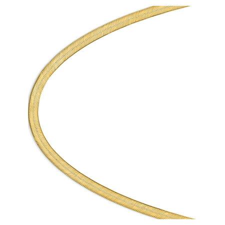 14k Yellow Gold 6.5mm Silky Herringbone Chain