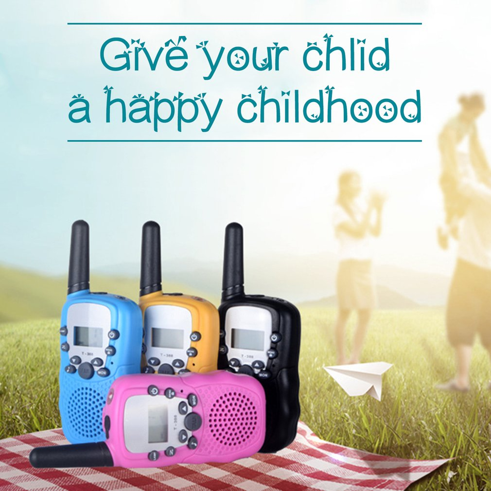 T388 UHF Two Way Radio Children's Walkie Talkie Mini Toy Gifts for Kids by