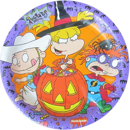 Rugrats Halloween Small Paper Plates - Halloween Plates Diy