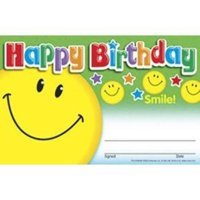 """Trend Happy Birthday Smile Recognition Awards - 8.50"""" X 5.50"""" - Multicolor"""