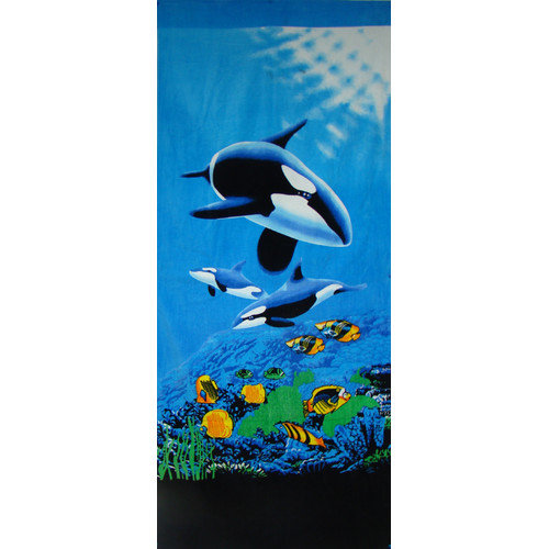 Textiles Plus Inc. Killer Whale Beach Towel