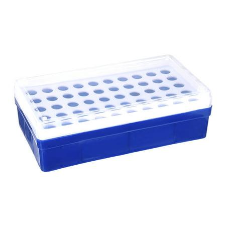 2 Pcs support tube polypropylène 50-puits bleu pour 2ml, 1.5ml - image 3 de 3