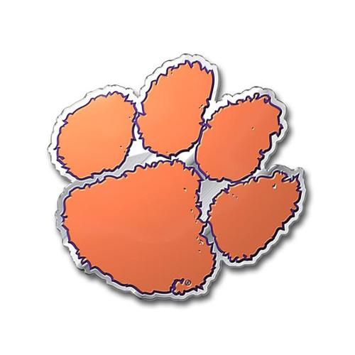 Clemson Tigers Colored Aluminum Car Auto Emblem