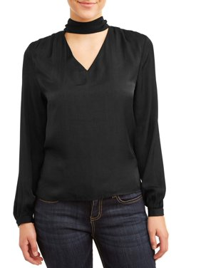Love Sadie Women's Shiny Cutout Blouse