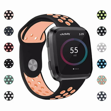 POY For Fitbit Versa Bands, Adjustable Breathable Replacement Sport Bands  with Air Holes for Fitbit Versa Smart Watch