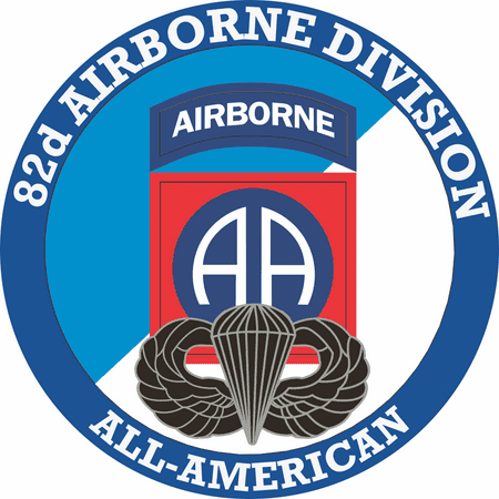 3.8 Inch 82nd Airborne with Jump Wings Decal