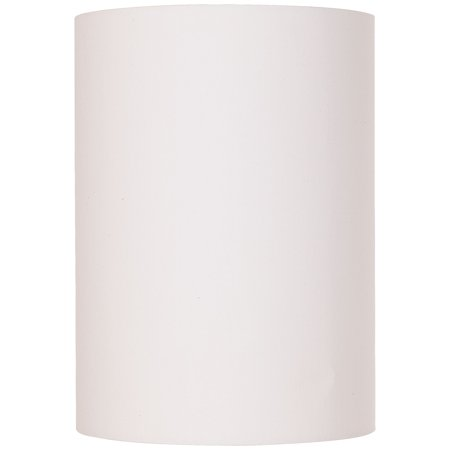 Brentwood White Cotton Small Drum Cylinder Shade 8x8x11 (Spider) (Cylinder Glass Shade Replacement)
