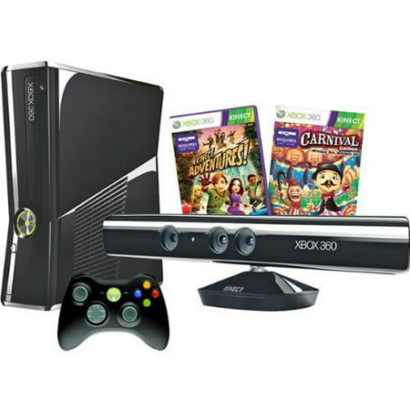 Refurbished Xbox 360 S 250GB Kinect With Wifi Console Bundle](xbox 360 slim black friday deals)