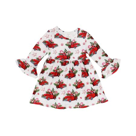 So Sydney Girls or Toddler Fall Winter Christmas Boutique Holiday Dress Long Sleeves](Boutique Christmas Clothes For Girls)