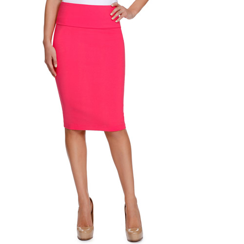 Miss Tina Women's Pull On Pencil Skirt