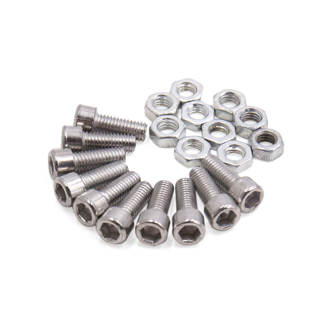 Universal Metal Motorcycle Windscreen License Plate M6 Bolts Screw 10Pcs - image 1 of 1