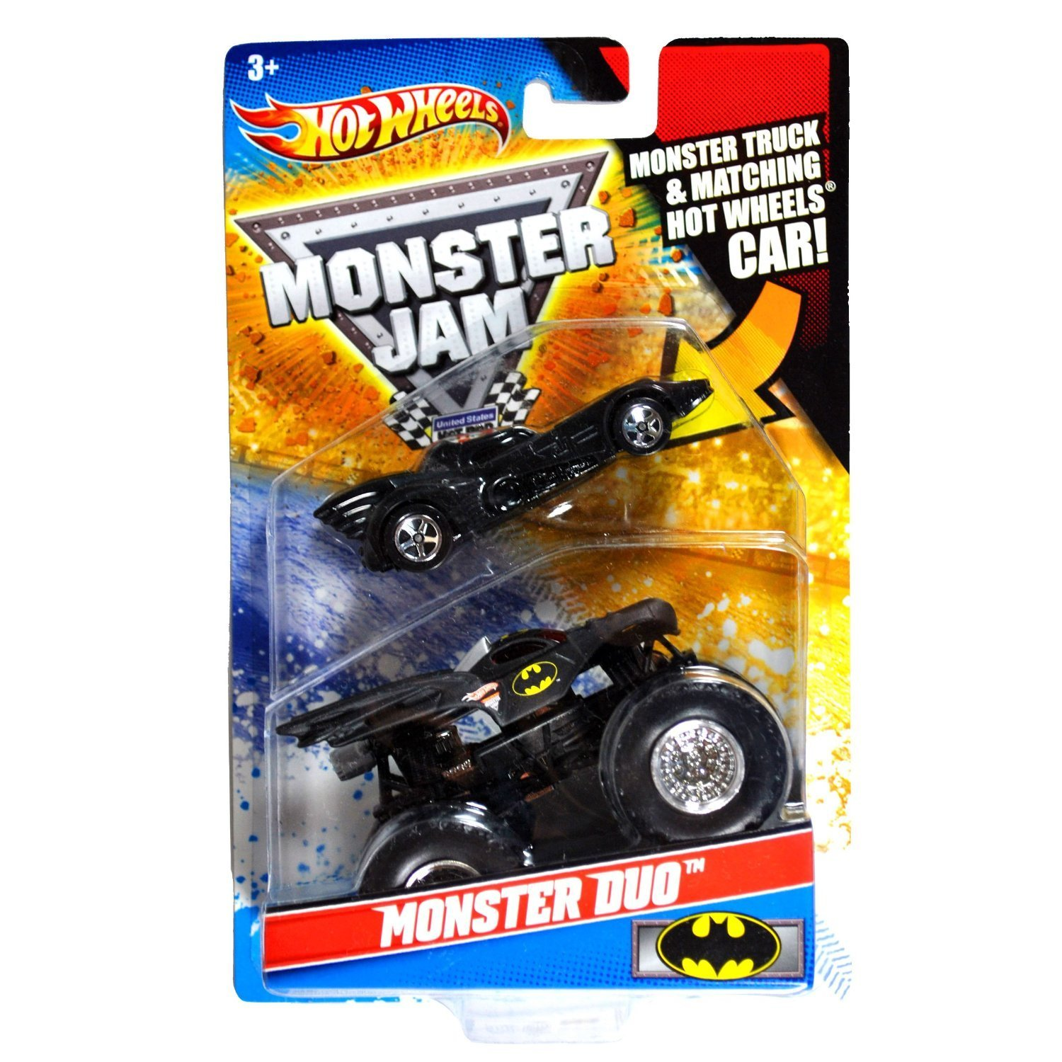 Monster Duo   Batman, 2010 Monster Duo   Batman By Hot Wheels by