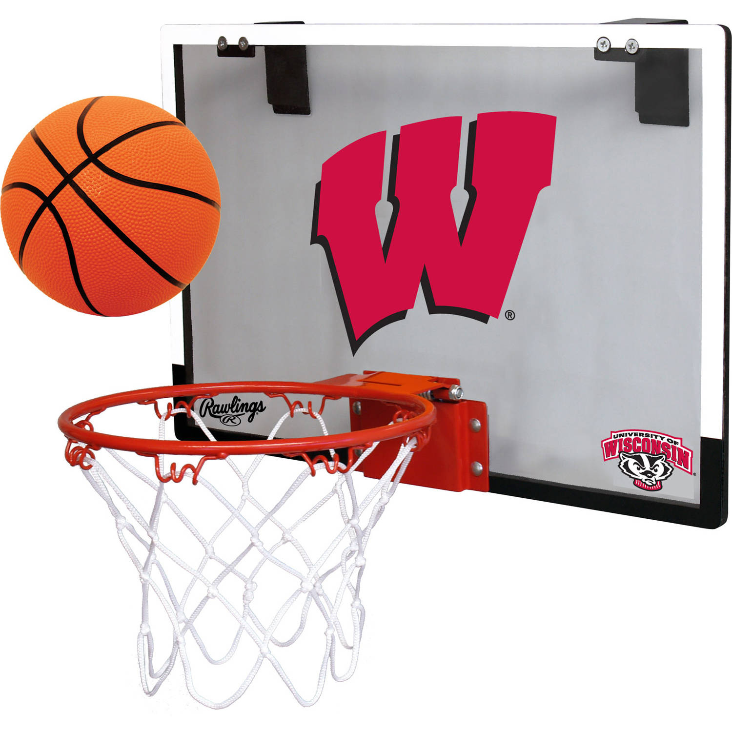 Rawlings NCAA Polycarbonate Hoop Set University Of Wisconsin Badgers
