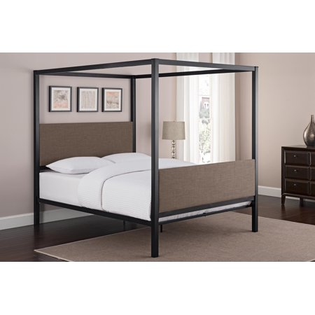 Better Homes and Gardens Grayson Queen Metal Canopy Bed, Multiple Colors ()
